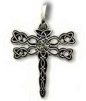 Pierced Dragonfly Pendant